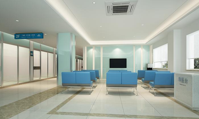 兰州华厦眼科医院二楼候诊区